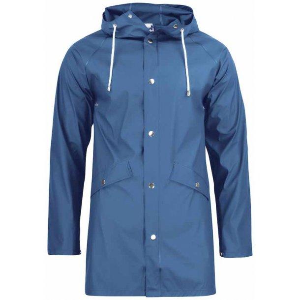 Klassisk regn jakke unisex - kongeblå