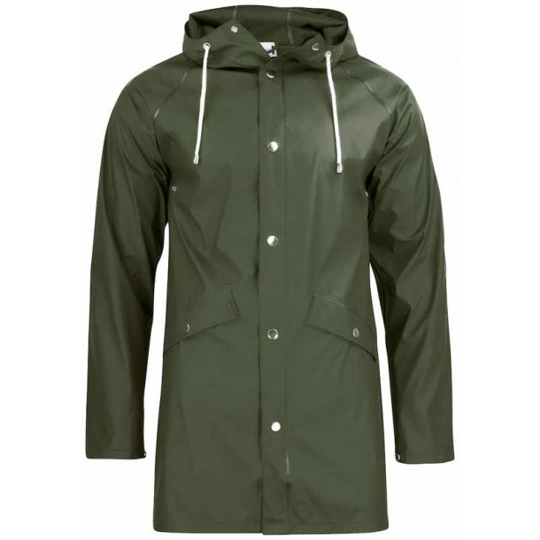 Klassisk regn jakke unisex - jagt grøn