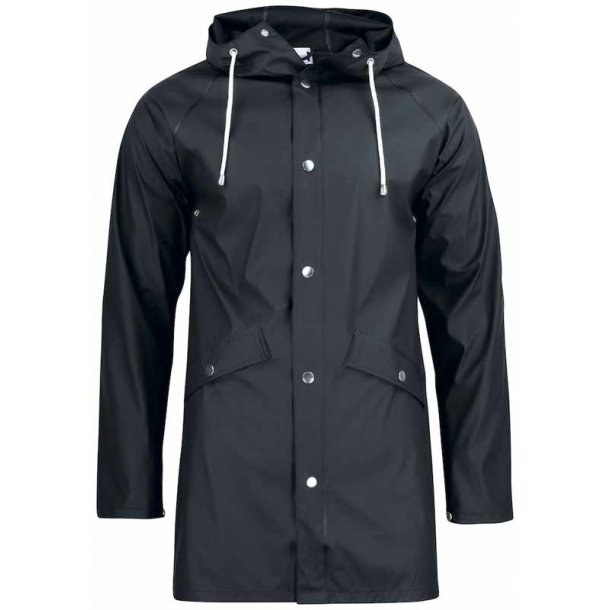 Klassisk regn jakke unisex - sort