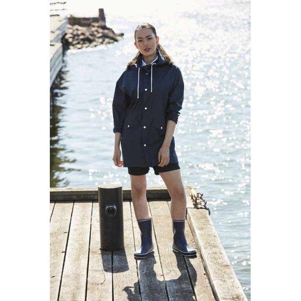 Klassisk regn jakke unisex - mørk navy