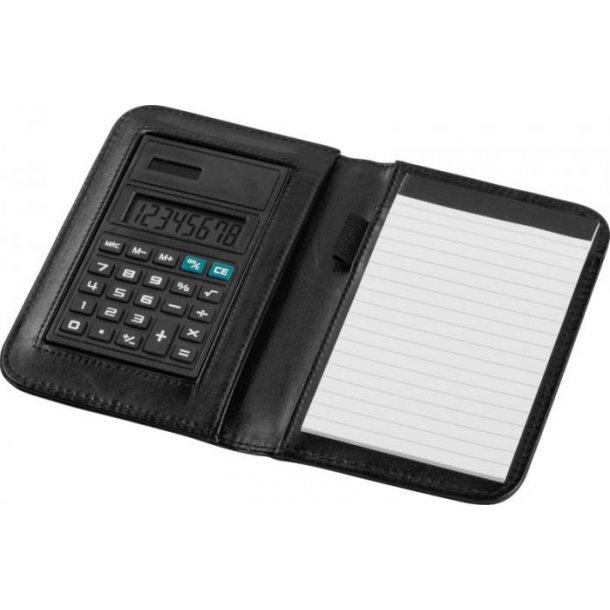 Notesbog med regnemaskine