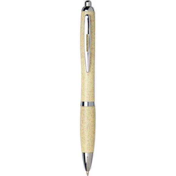 Nash kuglepen - hvedestrå med Krom spids