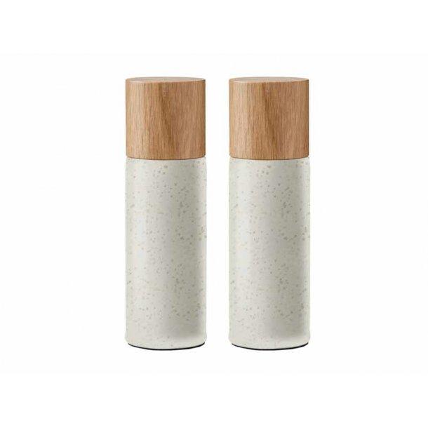 BITZ salt & pebersæt - mat creme