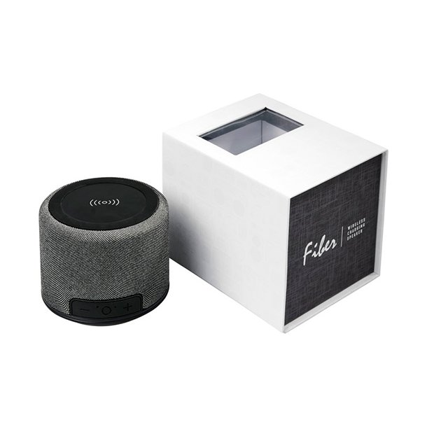 Fiber Bluetooth højtaler med trådløs opladning