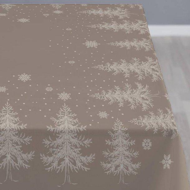 Södahl Damask dug - winterland taupe - 150x370 cm