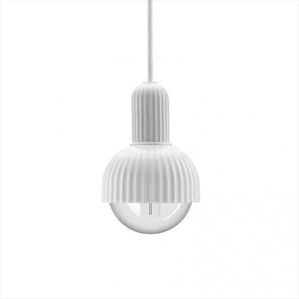 Pendel hvid Ø  12 cm -  LP Fitting #02 - Lyngby porcelæn