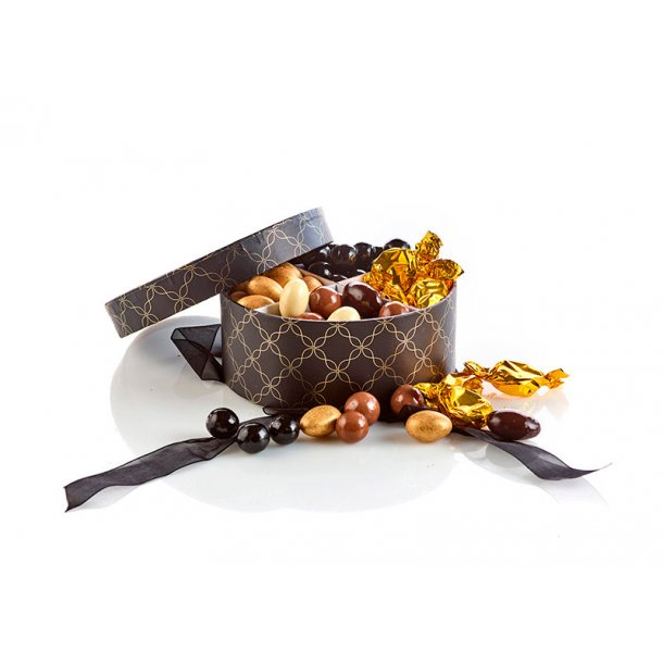 Hatteæske med blandende nødder & mandler