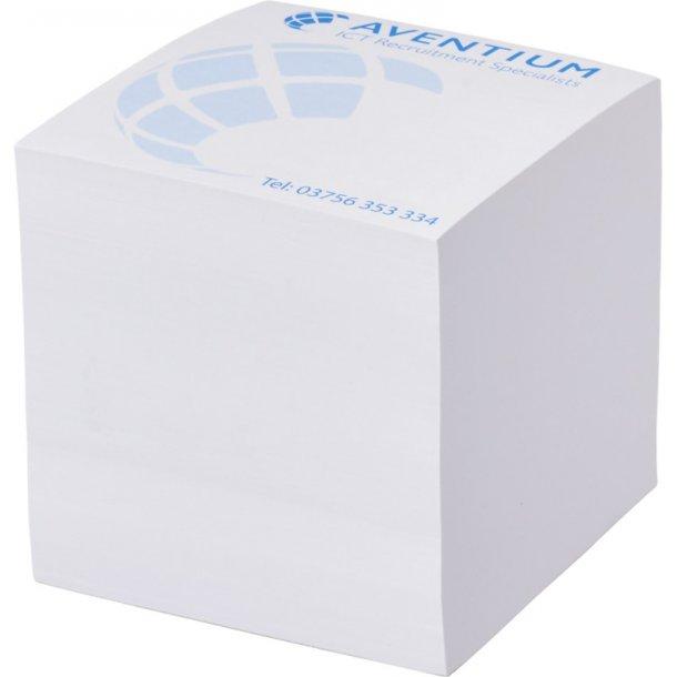 Memoblok kubus hvid - 850 0ark