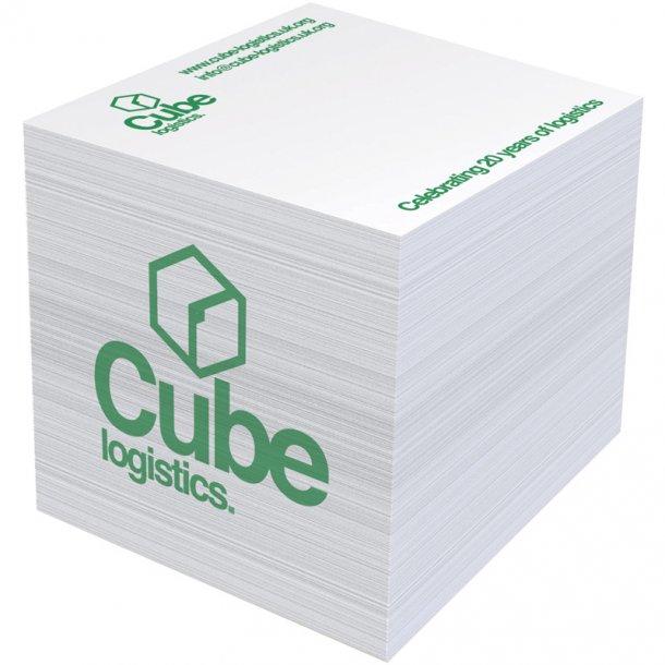 Memoblok kubus hvid - 550ark
