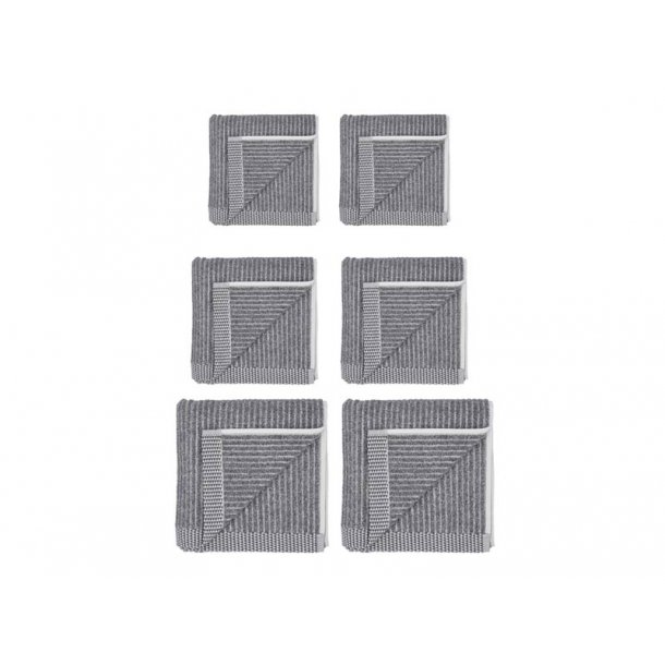 Södahl håndklæde gavepakke 6 dele - Ash