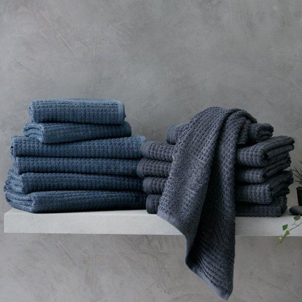 Juna håndklædepakke 6 stk - grå/blå