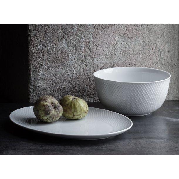 Rhombe skål & fad - Lyngby porcelæn