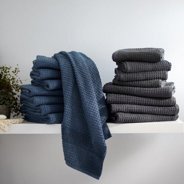 Juna håndklædepakke 8 stk - grå/blå