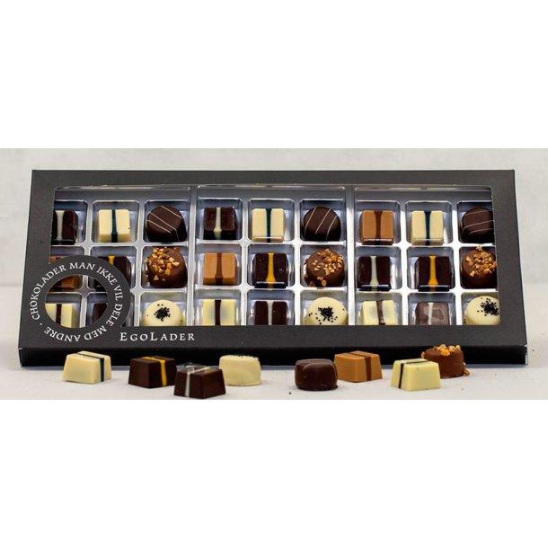 Egolade æske - 27 stk. ass. chokolader