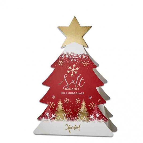 Xocolatl Juletræ rød - mælkechokolade m/karamel fyld