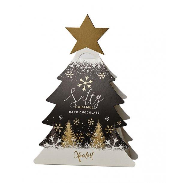 Xocolatl Juletræ sort - fyldt mørk chokolade 50gr.