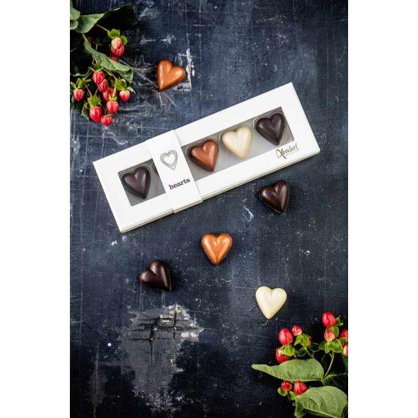 Fyldte chokoladehjerter - Golden Heart