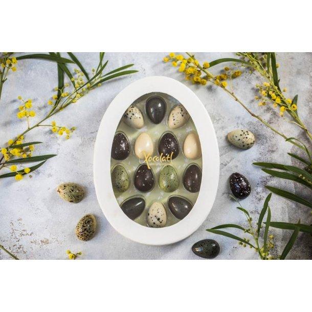Påskeæske med fyldte miniæg -grøn