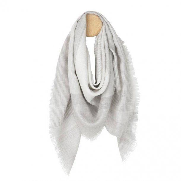 Milan tørklæde -  lys grå