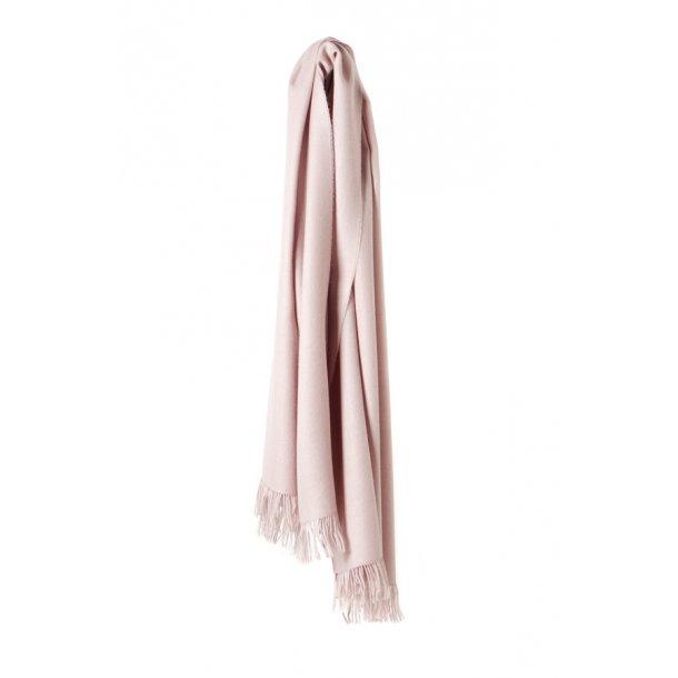 Traveller tørklæde - baby alpaka uld - rose / ivory