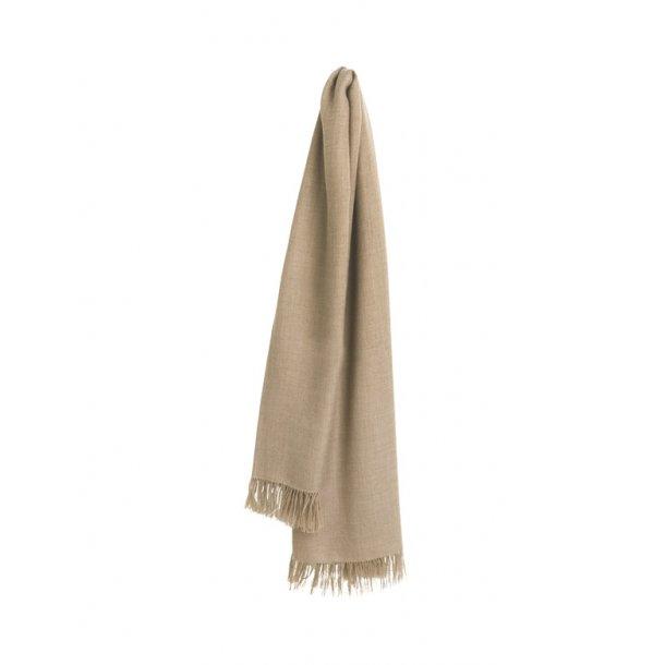 Traveller tørklæde - baby alpaka uld - beige / ivory