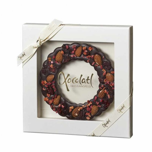 Julekrans - chokolade & mandler