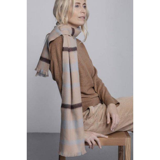 London tørklæde  - beige /chocolate