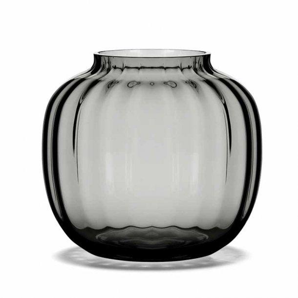 Holmegaard primula vase 12,5 cm - smoke