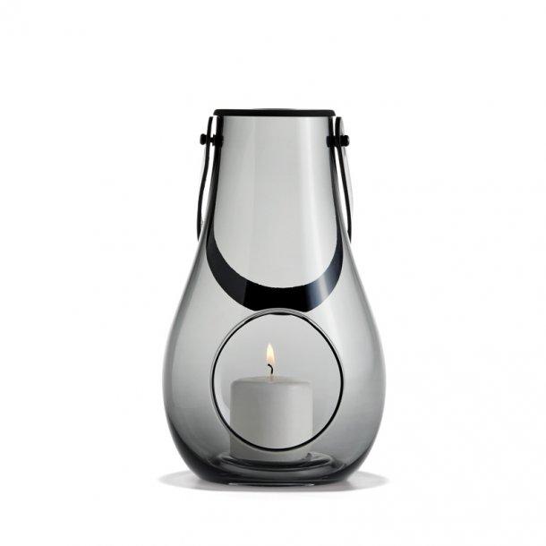 Holmegaard design lanterne - 25 cm - smoke