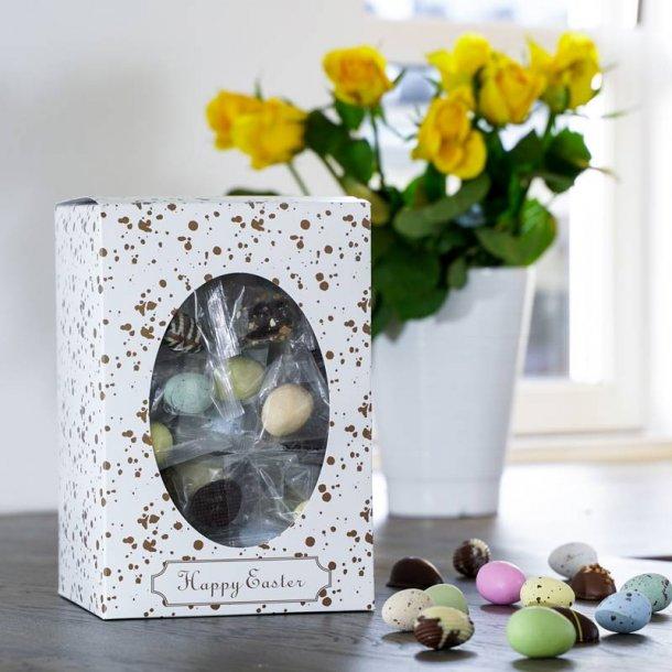 Happy Easter gaveæske påskemix flowpack-L