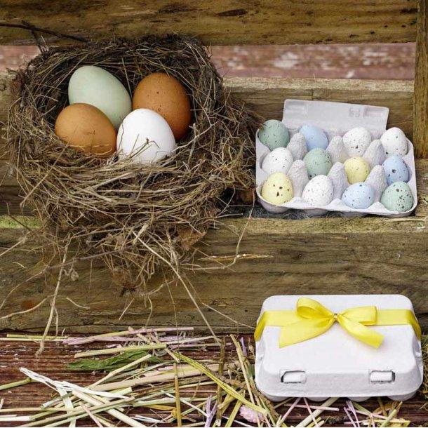Påskeæg i æggebakke - 12 stk - nougat