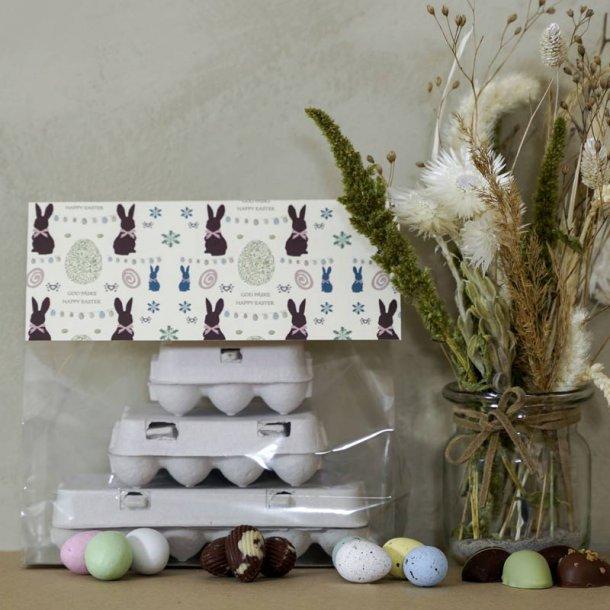 Påskepakke med tre æggebakker - 36 stk.