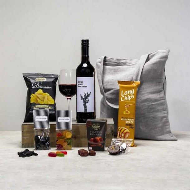 Gavepakke Agnes - vin & chokolade