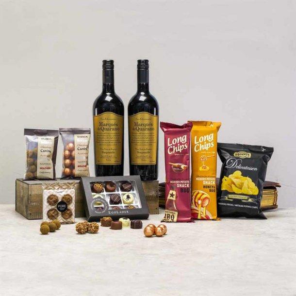 Gavepakke Kristen- vin & chokolade