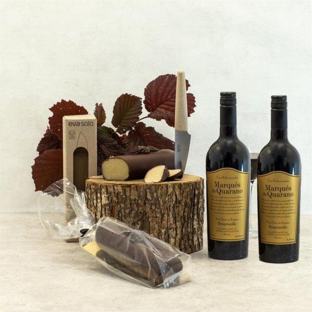 Gavepakke Arnold - vin & chokolade, Eva Solo urtekniv