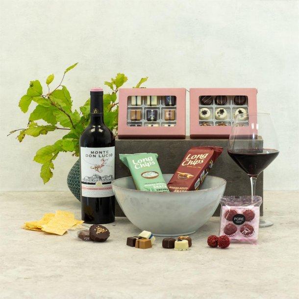 Gavepakke Oscar vin & chokolade, Skål Broste