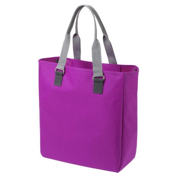 Shopper i polyester -  håndtag med kontrastfarver