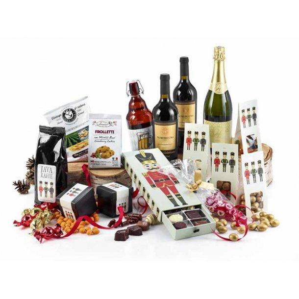Glædelig jul & godt nytår - vin & chokolade
