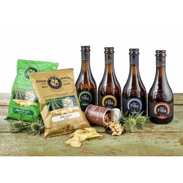 Gavepakke m/ Italienske gourmet øl & snacks