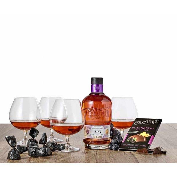 NAUD VS Cognac & LYNGBY glas