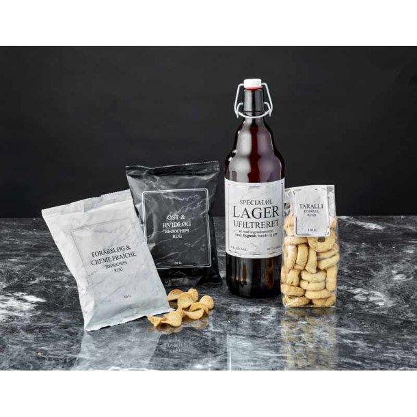 Gavepakke CbyN No. 1 - øl & chips