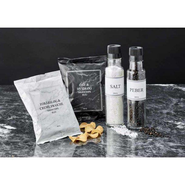 Gavepakke CbyN No. 2 - salt & peber, chips
