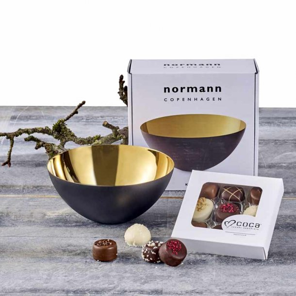 Normann Copenhagen Krenit skål 16 & chokolade