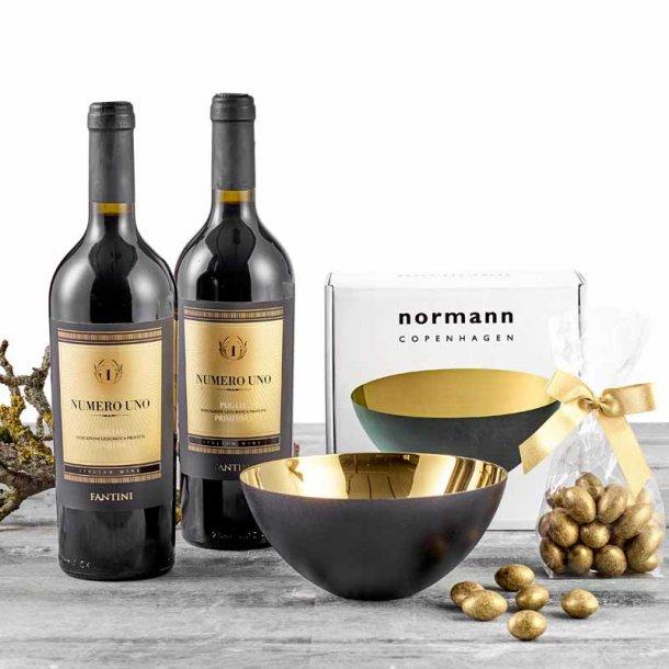 Normann Copenhagen Krenit skål 16 &  vin/chokolade