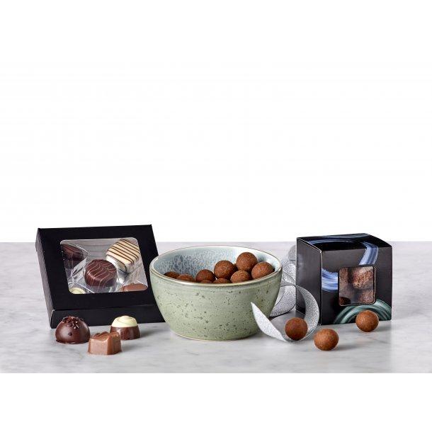 BITZ skål grøn/lyseblå & chokolade