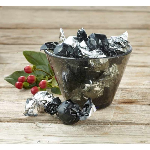 Lyngby glas skål m/chokoladekugler - smoke