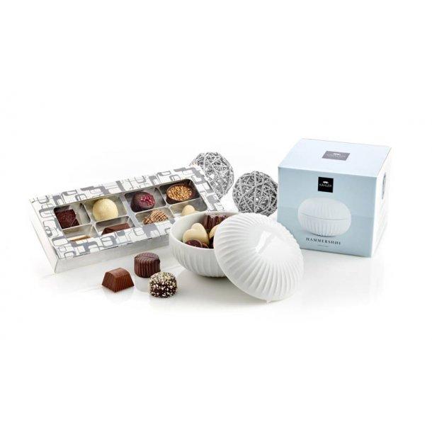 Kâhler bonbonniere m/chokolade - hvid