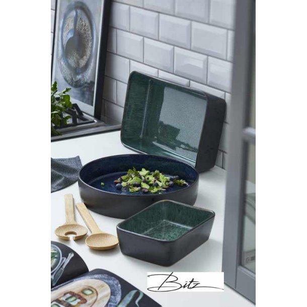 Lasagne & salat skåle / fade - grøn / mørkeblå - BITZ