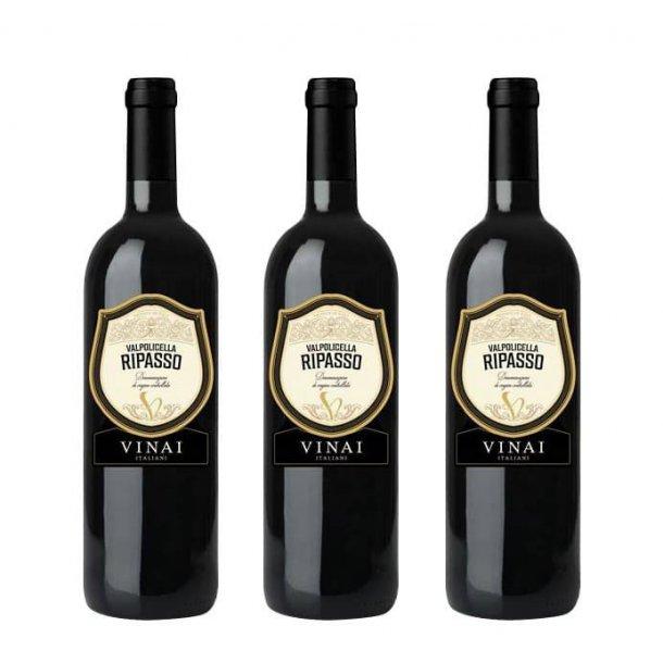 Vinpakke m/ 3 fl. Vinai, Ripasso Italien