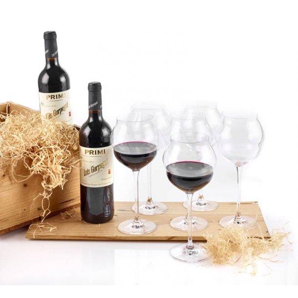 Rioja Crianza rødvin & 6 glas C&S